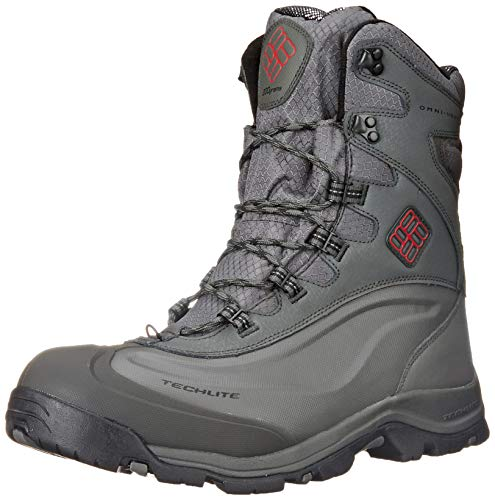 Columbia Men's Bugaboot Plus III Omni Cold Weather Boot, Charcoal/Bright Red, 10 D US