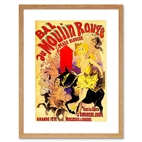 VINTAGE ADVERT MOULIN ROUGE DANCERS NEW ART PRINT POSTER ART MOUNT F12X1650