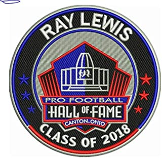 Football RAY Lewis 2018 PRO Hall of Fame Patch RAVENSPRE-Order Item - Shipping Begins ON October 5TH