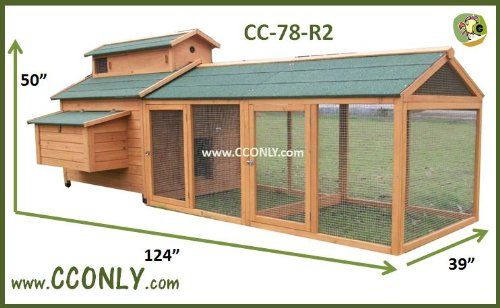 CC ONLY CC-78-R2 Chicken Coop, Hen House or Rabbit Hutch