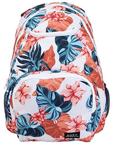 Roxy Damen Shadow Swell Backpack Rucksäcke, Weiß glänzend Standard 202, 1 Größe