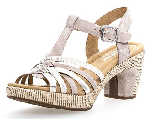 Gabor Damenschuhe 82.736.44 Damen Sandaletten, Sandalen, Sommerschuhe, Strandschuhe, mehr Raum Dank Comfort-Mehrweite Beige (Puder (ba.st)), UK 5.5