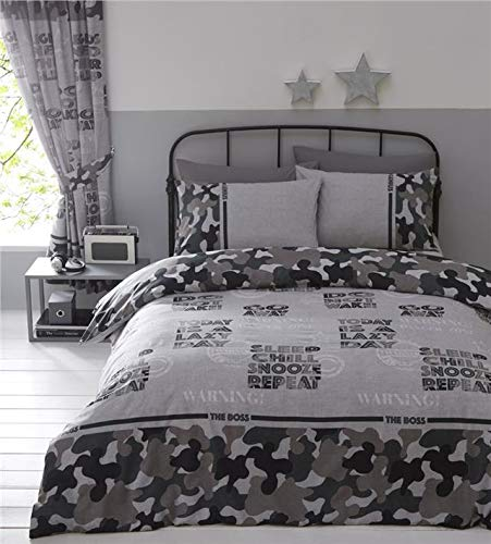 Homemaker Camouflage duvet cover sets boys army military bedding & curtains available (Duvet Set - Double)