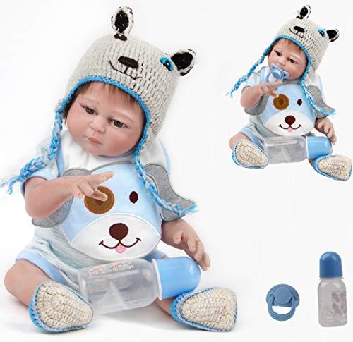 ZIYIUI 20 Pollici 50cm Bambole Reborn Maschio Silicone per Tutto Il Corpo Vita Reale Realistico Fatto a Mano Ragazzo Addormentato Manichino Magnetico Regali di Natale Reborn Bambola Doll