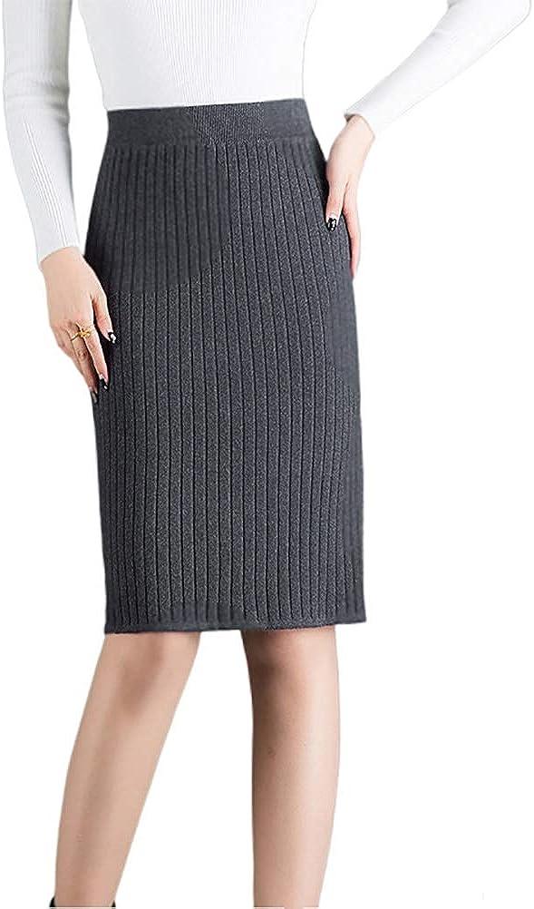 Nanxson Women' Stretchy Knit High Waist Hips-Wrapped Slim Skirts Wear to Work CFW2009