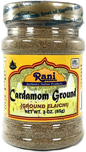 Rani Cardamom (Elachi) Ground, Powder Indian Spice 3oz (85g) ~ All Natural, No Color added, Gluten Friendly | Vegan | NON-GMO | No Salt or fillers