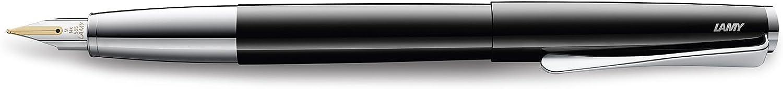 Lamy 1232623 Premium Writing studio Füllhalter 14 karat Goldfeder (Größe OM), pianoschwarz B0788C735T | Berühmter Laden