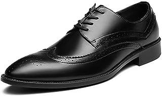 [DOUERY LTD] ビジネスシューズ メンズ?レースアップ ローファー ポインテッドトゥ おしゃれ カジュアル 革靴 ウォーキング 防滑 軽量 タッセル スリッポン フォーマル 黒色 カジュアルブラック26cm 24.5cm 24.5cm 25cm