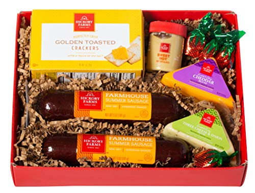 Hickory Farms Holiday Meat & Cheese Sampler with Farmhouse Summer Sausage and Cheeses 1.08 lbs