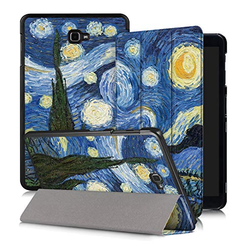 Xuanbeier Funda Compatible con Samsung Galaxy Tab A 10.1 SM-T580 T585 (Tab A6) con Soporte Función Auto-Sueño/Estela,Estrella