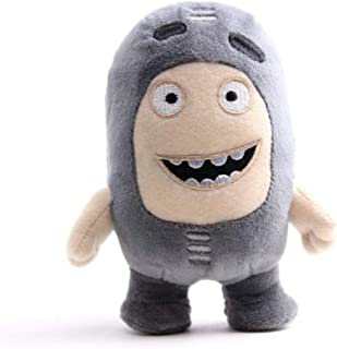 18cm Oddbods Cartoon Plush Toys Cute Soft Fuse Pogo Bubbles Slick Zeke Jeff Plush Doll Toys for Kids,Gray,18cm