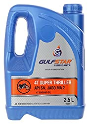 Gulfstar 15W-50 API SN Hybrid Petrol Engine Oil for Motorbikes (2.5 L),Omex Oils (India) Pvt. Ltd.