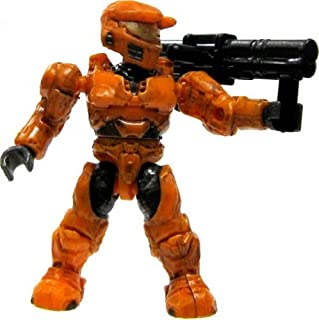 Halo Wars Mega Bloks LOOSE Mini Figure UNSC Orange Spartan with Rocket Launcher