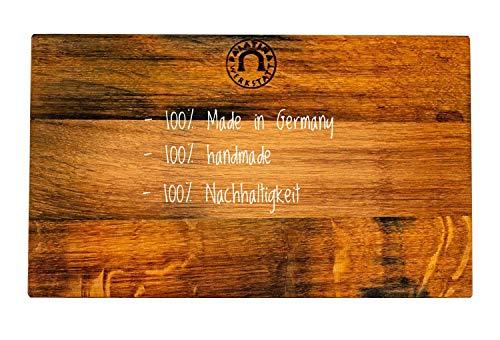 Massief, handgemaakte keukenplank (30 x 18 cm) | van oud gevelhout (eiken) met de hand gemaakt | robuust, hoogwaardig en lemmetvriendelijk | leuke keukenplank uit de palz | 12 maanden garantie