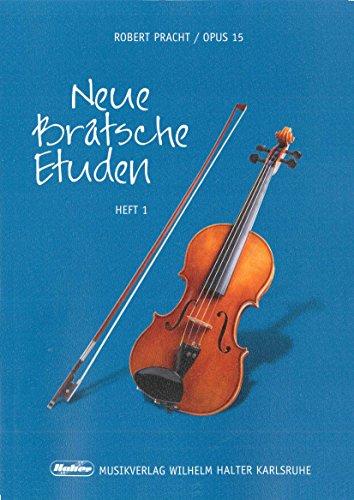 Robert Pracht: Neue Bratsche Etüden op.15 Band 1 - 47 leichte Etüden in der 1. Lage - Ausgabe für Viola (Noten)