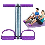 COVVY Elastic Sit Up Equipment, Pull Rope Dual Spring Tension Foot Pedal Sit Up Equipment for Abdominal, Leg Exerciser Tummy Trimmer Sport Fitness Slimming Training Bodybuilding at Home Gym - Purple