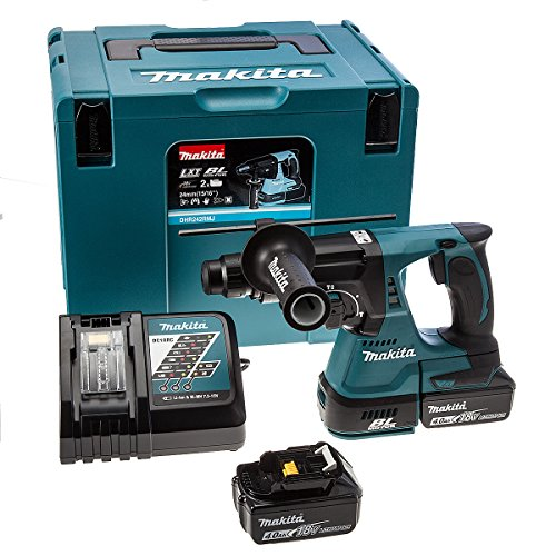 Makita DHR242RMJ 18 V Li-ion LXT Brushless Rotary Hammer Complete with 2 x 4.0 Ah Li-ion Batteries...