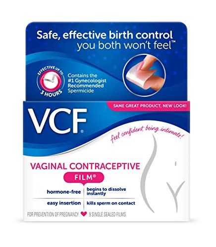 VCF Vaginal Contraceptive Film - 9ct * Safe, Effective Birth Control you both CAN'T Feel!