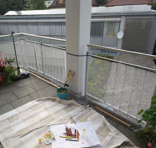 Schutznetz für Kinder & Haustiere Balkonnetz Treppennetz 200 x 74 cm weiß