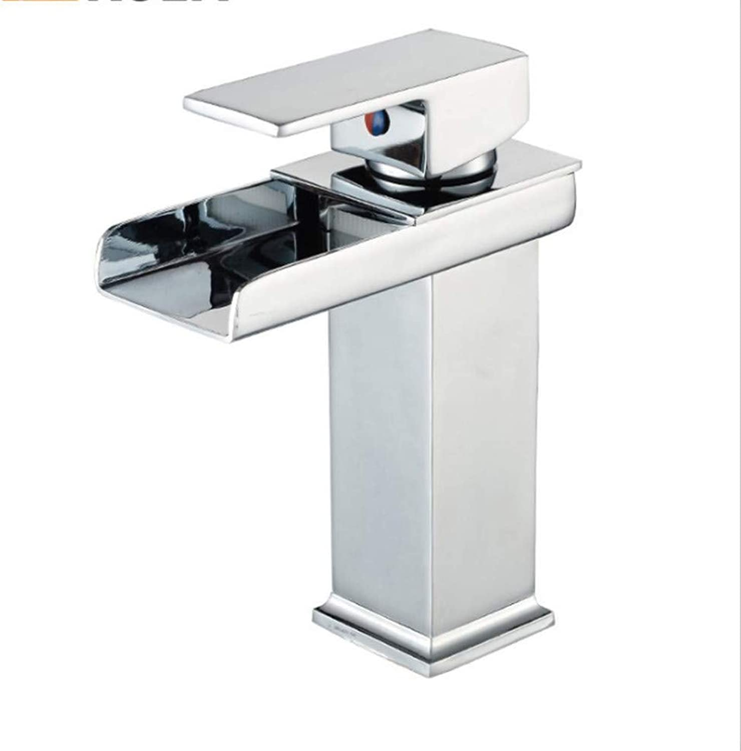 Water Tapdrinking Designer Archcopper Basin Faucet Sifang Trough Waterfall Faucet Bathroom Table Basin Faucet