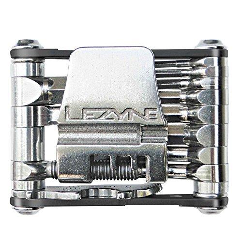 Lezyne V-16 multifunctioneel gereedschap, zwart, gereedschappen: chroom vanadium, kettingklinknagels, CNC aluminium. Zijplaten, 1-MT-V-16T04, m