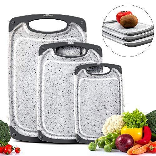 Tabla para Cortar Utensilios De Cocina CUTICATE 2 Piezas Antideslizantes para Picar Vegetales Vegetales