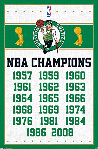 Trends International Boston Celtics Champions Wall Poster 22.375' x 34'