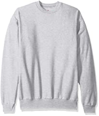 Cozy 7.8-ounce fleece made with up to 5 percent polyester created from recycled plastic Pill-resistant fabric with high-stitch density for durability Lay flat collar keeps its shape wash after wash All the comfort of Hanes with our famous tag-free co...