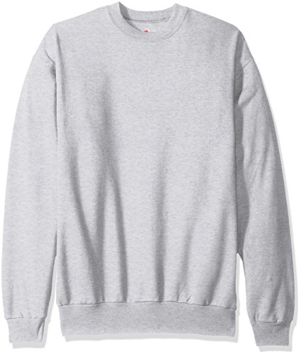 Hanes Men's Ecosmart Fleece Sweatshirt, ash, Large