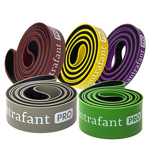 mantrafant PRO Series Resistance Bands | Fitnessband einzeln oder Widerstands Bänder Set | Klimmzug Terra Band für Kraftsport und Zuhause
