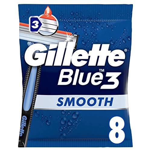 Gillette Blue3 wegwerp graveermachine heren voetbal Edition, per stuk verpakt (1 x 8 stuks)