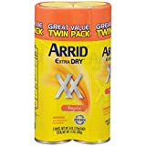 Arrid XX Extra Dry Antiperspirant Deodorant, Regular, Twin Pack (two 6oz. cans)
