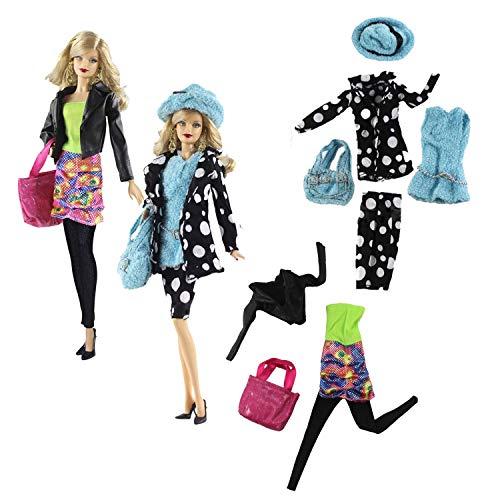 WENTS Fashions Puppenkleidung Bauernhof Sets 2er Pack Kleidung Pullover Warm Handtasche Hut Pastellfarbige Moden und Zubehör Puppenzubehör ab 3 Jahren