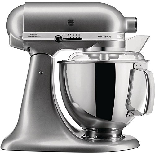 KitchenAid Artisan - Robot de cocina (4,8 L), color plateado