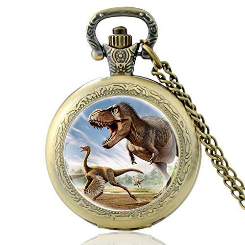 XTQDM Pocket watch,Pattern Vintage Quartz Pocket Watch Men Women Pendant Necklace Hours Clock Bronze