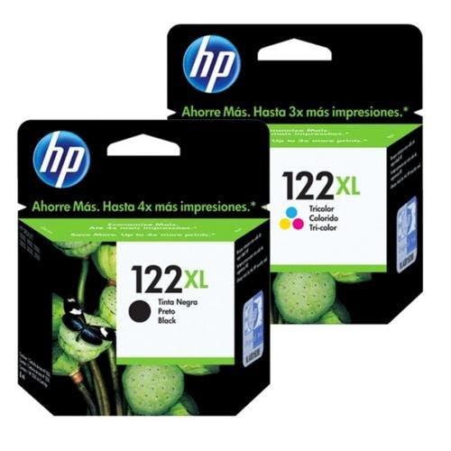 Kit Cartucho HP 122 XL preto + 122XL color Original