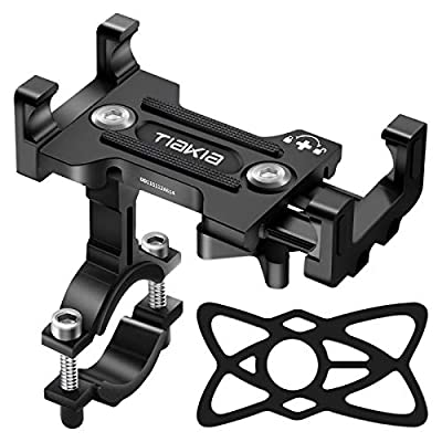 Tiakia Bike Phone Mount - Universal Motorcycle Mount Anti Shake & Anti-Theft, Face & Touch ID Bicycle Phone Holder 360° Rotation for 4.7-7.2 inches Smartphone from Tiakia