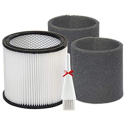 Replacement 90304 90350 90333 Cartridge Filter Compatible with Shop-Vac 5 Gallon Up Wet/Dry Vacuum Cleaners