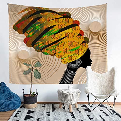Tapices africanos para colgar en la pared, diseño africano, estilo étnico afro, manta de pared tradicional exótica, elemento de arte folk, decoración de dormitorio, manta mediana 51 x 59
