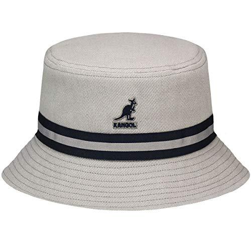 Kangol Headwear Herren Stripe Lahinch Fischerhut, Grau (Grey), Large