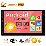 Double Din Car Stereo Android Head Unit 2 Din Car Radio Bluetooth GPS Navigation 7 inch Touch Screen Radio with in Dash Auto Audio Headunit 8 Core Car Tablet Receiver Support 2GB 32GB WiFi Video Ou