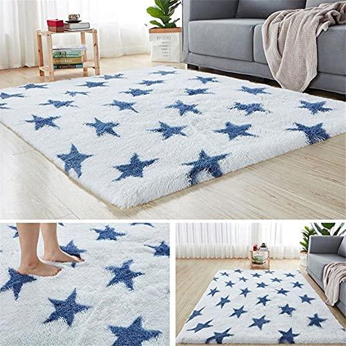 Alfombra de felpa con degradado de teñido anudado para sala de estar, mesa de café, alfombra de dormitorio, mesita de noche, ventana, alfombra de bebé, diseño de 50 x 80 cm