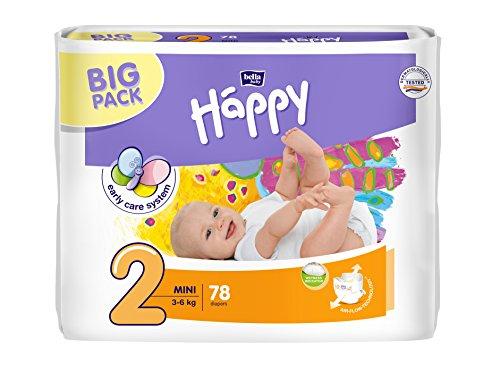 Bella Baby Happy Pannolini di tutte le misure (taglia 2(3-6kg))