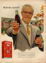 Refresh yourself - Coca-Cola ad 1952 vending machine college prof L