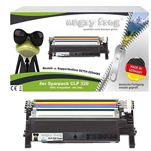 4X Toner Made in Germany ersetzen Samsung CLP320, CLP325 CLT-K4072S, CLT-C4072S, CLT-M4072S, CLT-Y4072S