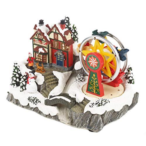 The Christmas Workshop–Ruota panoramica Ornamento, Varie, 26cm di Altezza x 17cm di Larghezza x 16.5cm di profondità