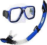Deep Blue Gear Maui Diving Mask and Semi-Dry Snorkel Set, Adult, Blue