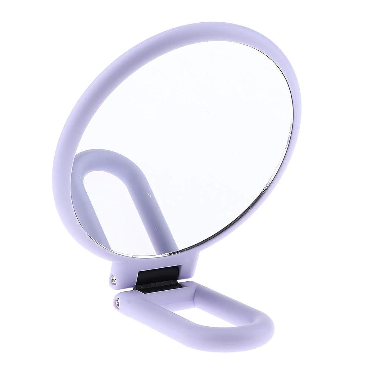 F Fityle 両面化粧鏡 メイクアップミラー 折りたたみ 手持ち 旅行小物 2タイプ選べ - 5倍