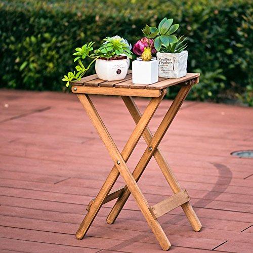 Plante Théâtre Nordic simple bois massif Fleur Support Salon Balcon paresseux Table pliante table basse en petites Table (60 * 35 * 35 cm libre) Idée Cadeau Jardiniers 1001