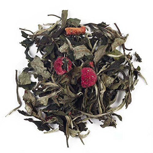 Aromas de Té - Té Blanco Pai Mu Tan Afrutado con Fresa, Frambuesa, Cereza y Sauco Ideal para Catarros y Cuidar tu Corazón a Granel, 60 gr